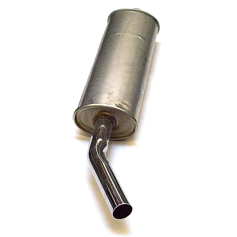 RC40 Rear Muffler, Side Exit, Mild Steel