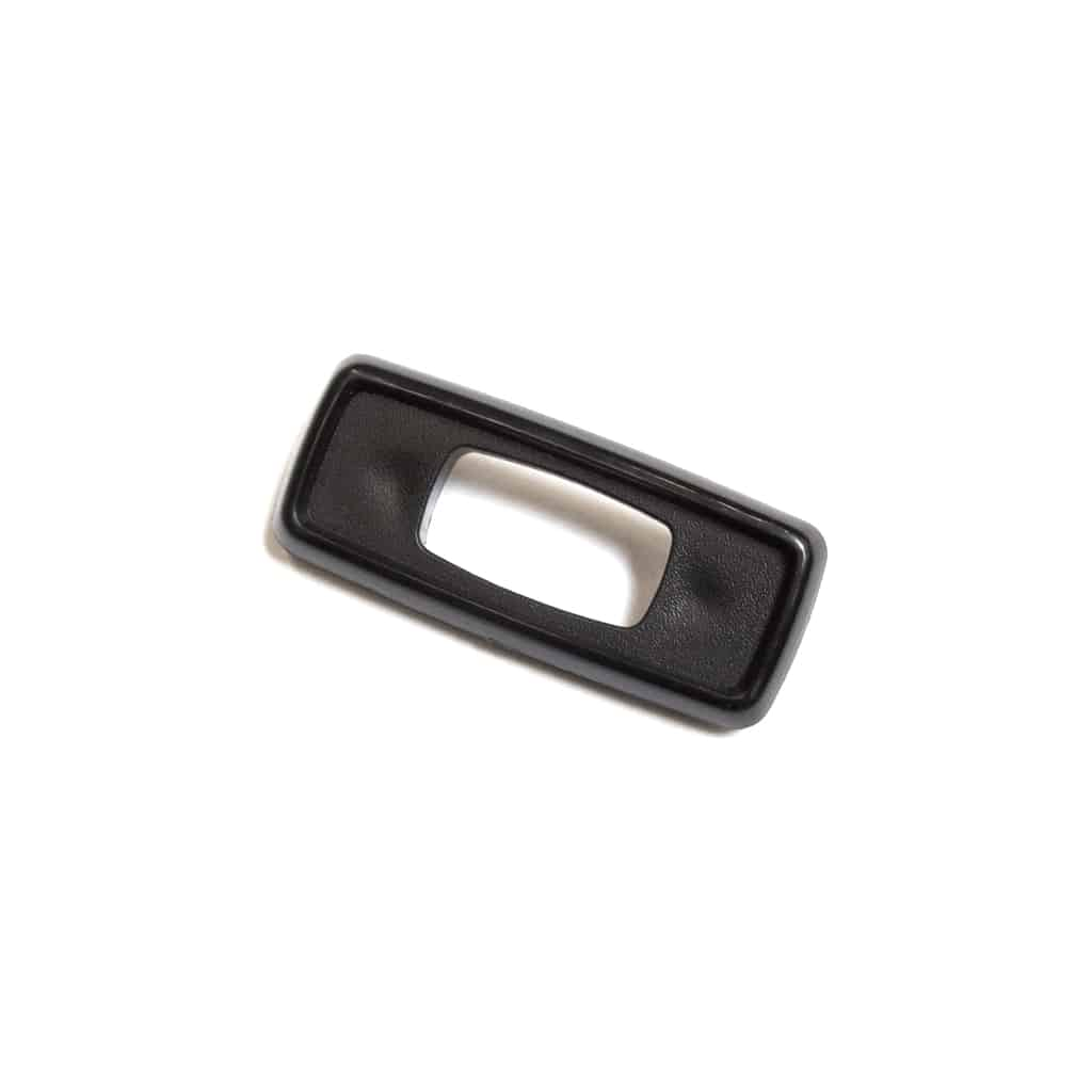 Door Lock Control Bezel, Black Plastic