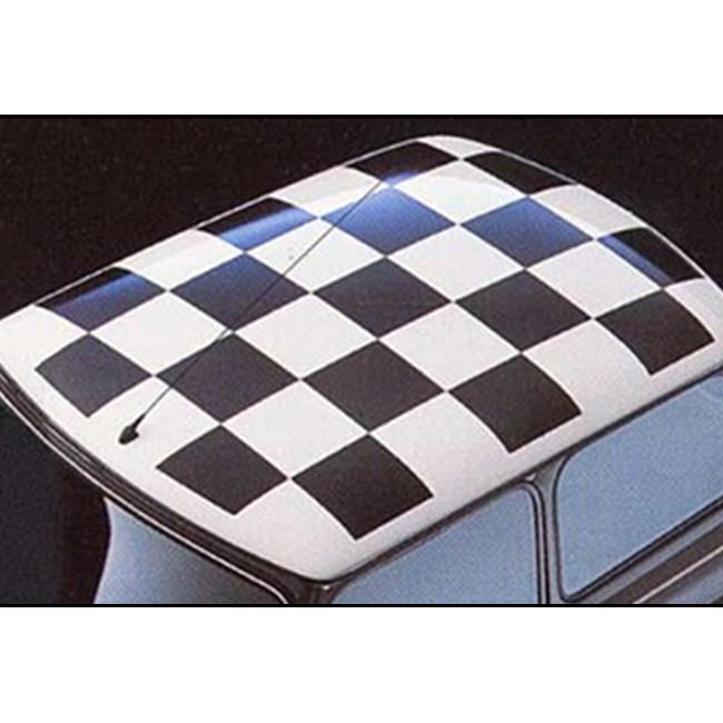 Checkerboard Roof Decal, Black