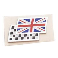 Union Jack/Checkered Flag Badge, adhesive