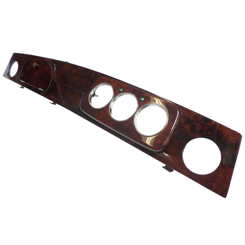 Dashboard, Burl Walnut, 3-Gauge, Right-Hand Drive