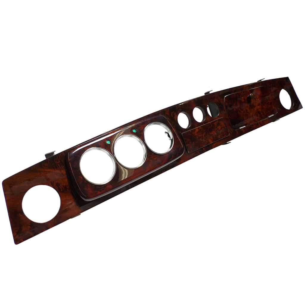 Dashboard, Burl Walnut, 3+3, Left Hand Drive