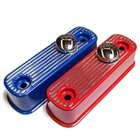 Valve Rocker Cover, aluminum, flat top, powder coated