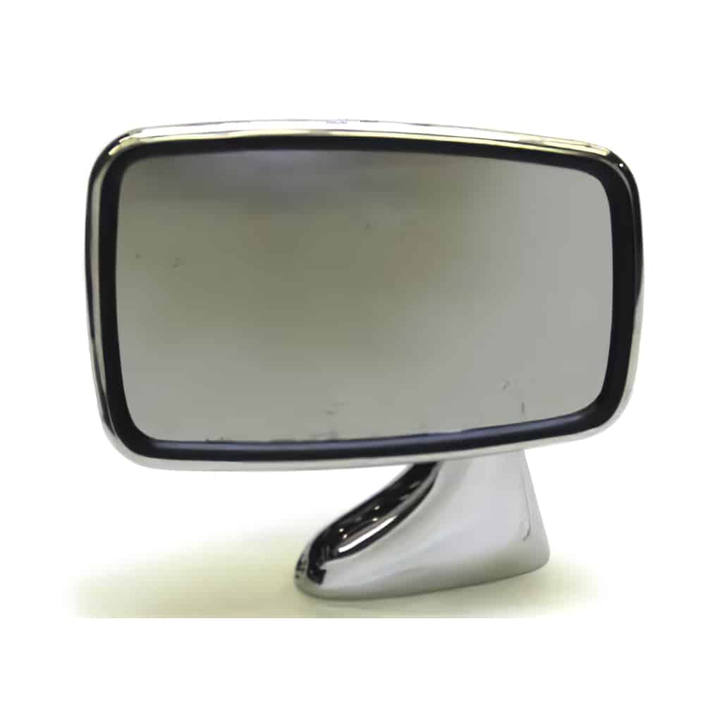 Door Mirror, Chrome, Flat Glass