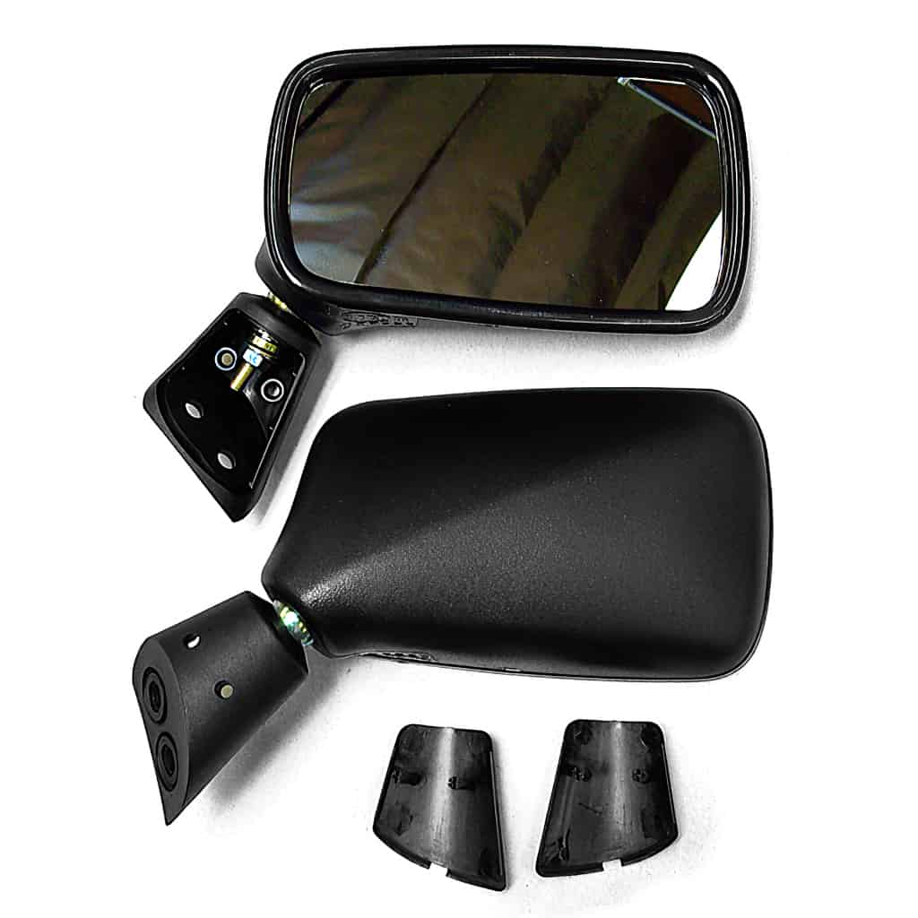 Door Mirror, Black, Pair