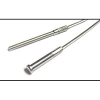 Handbrake Cable, Saloon, 1976-on, front