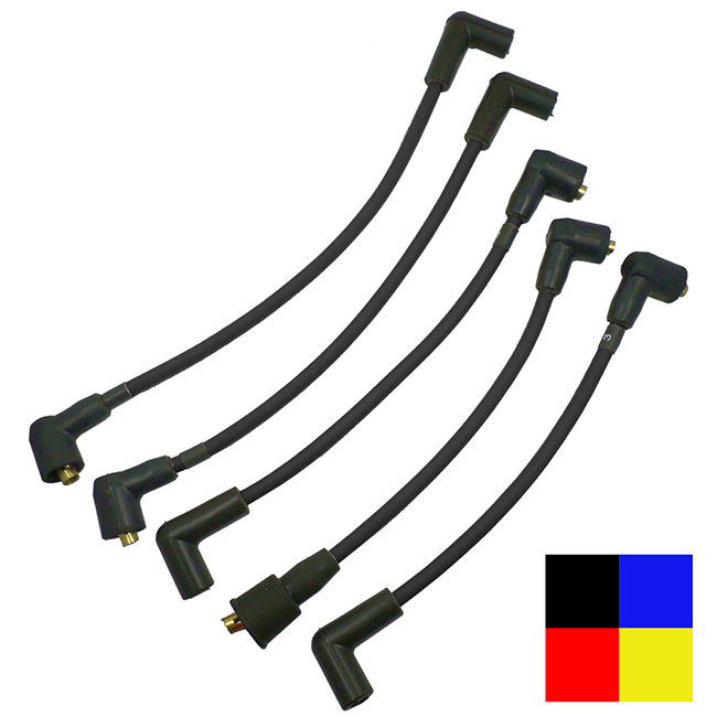 Spark Plug Wire Set, Top-exit Cap, High Performance