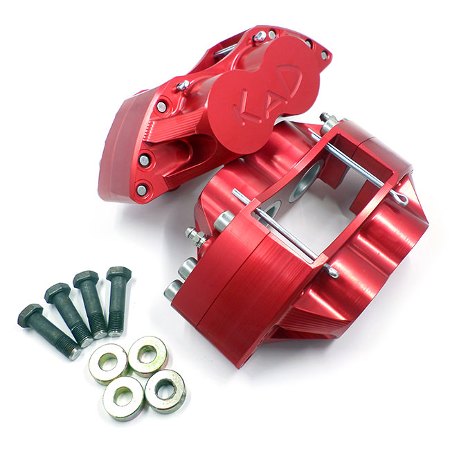 "KAD Alloy 4-Pot Calipers for 7.9"" rotor, 10"" wheel"