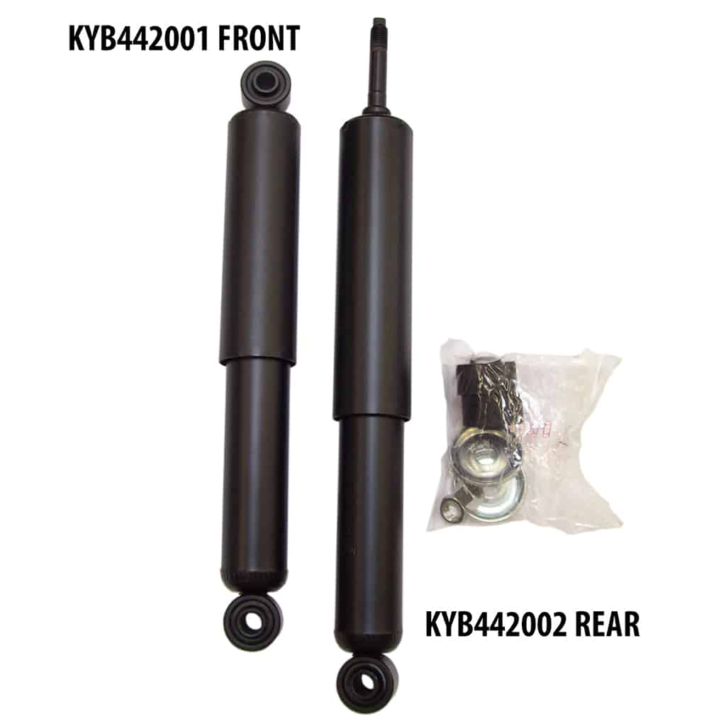KYB442001 front and KYB442002 rear shocks
