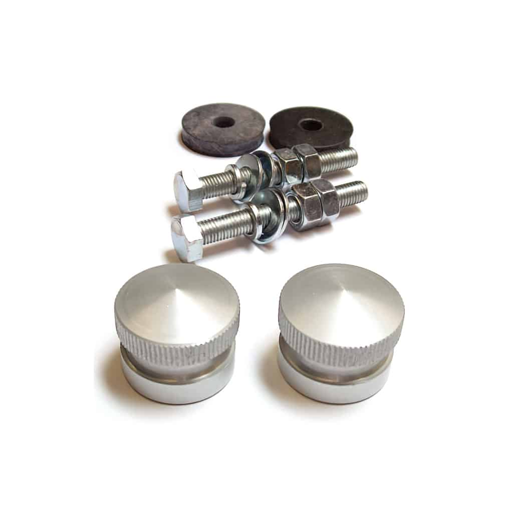 Grille Button Set, aluminum