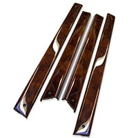 Interior Door Cappings, Burl Walnut, Set/4