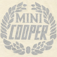 Decal, Mini Cooper Wreath, Silver