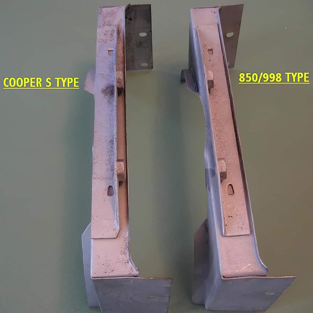 Installed bracket comparison
