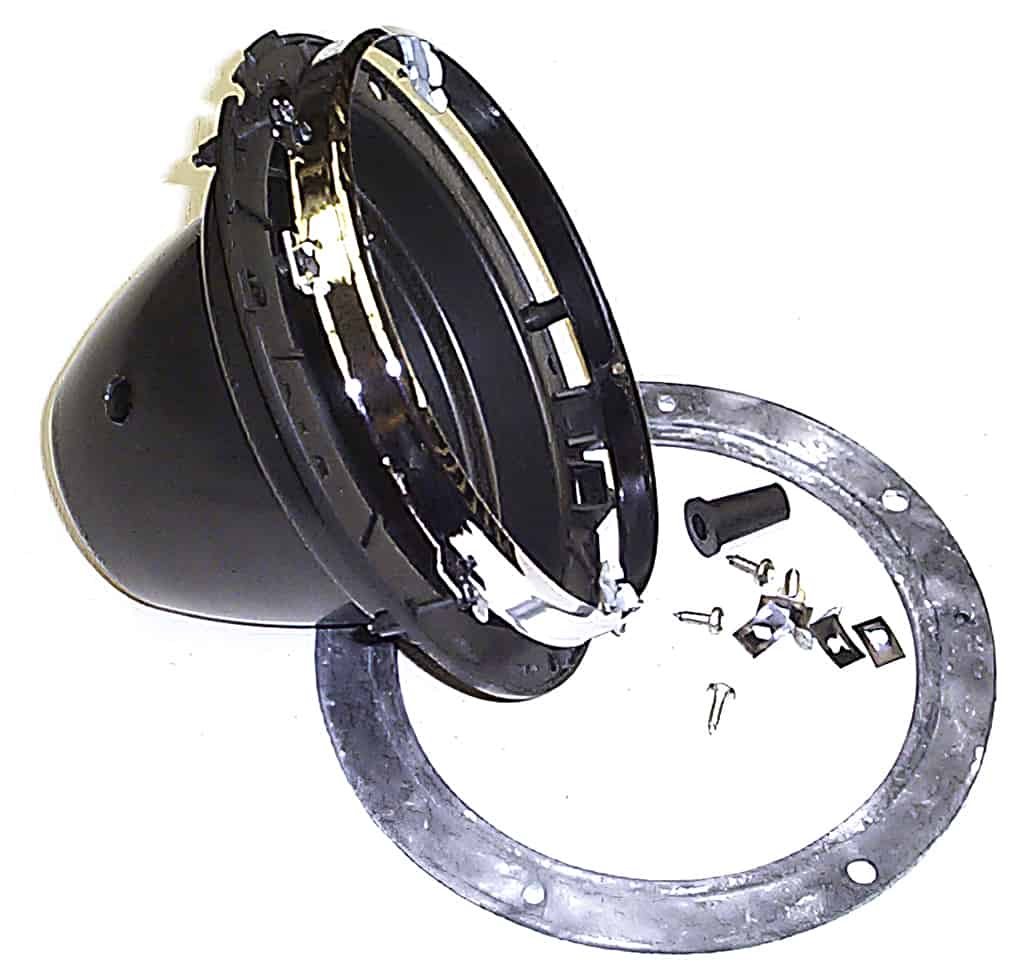 Headlamp Bucket Assembly, Plastic