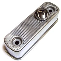 Rocker Cover, aluminum, flat top, polished