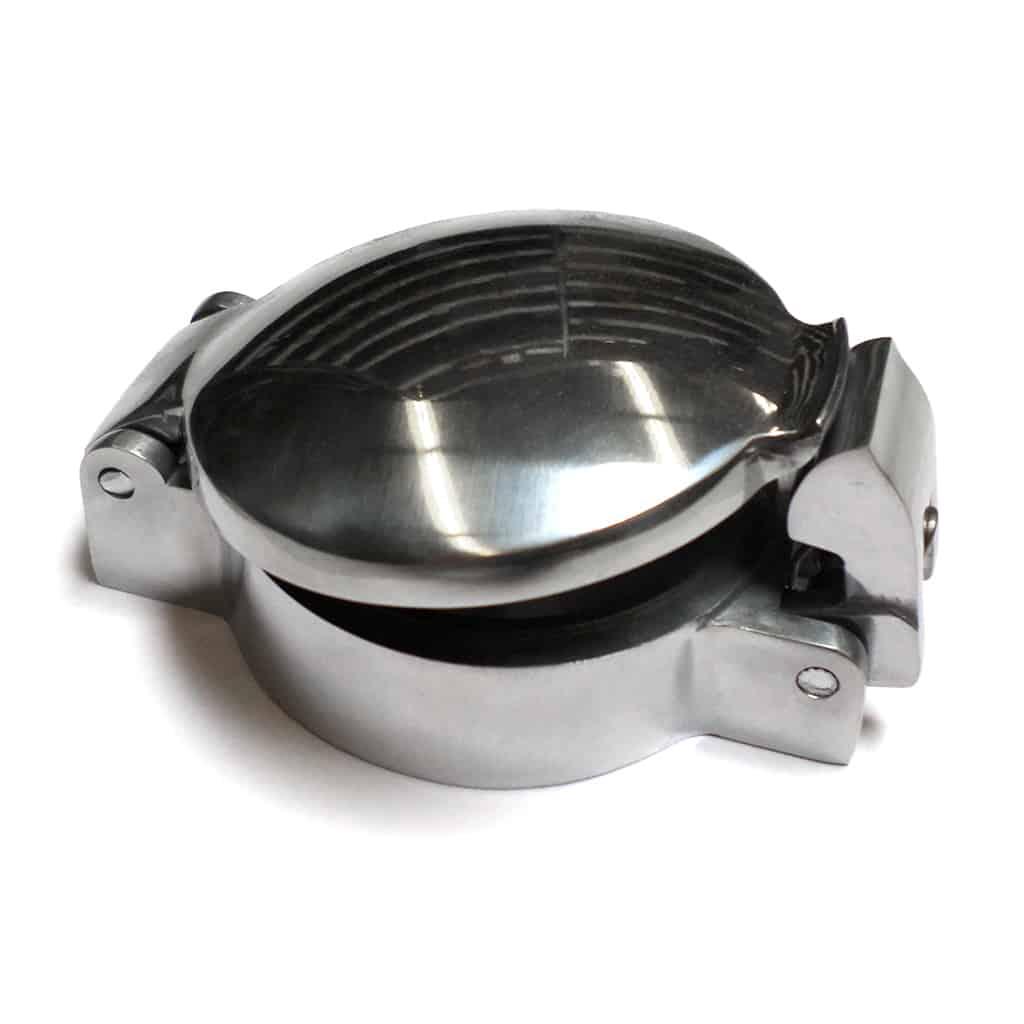 Flip Top Aston Gas Cap Cover, Aluminum