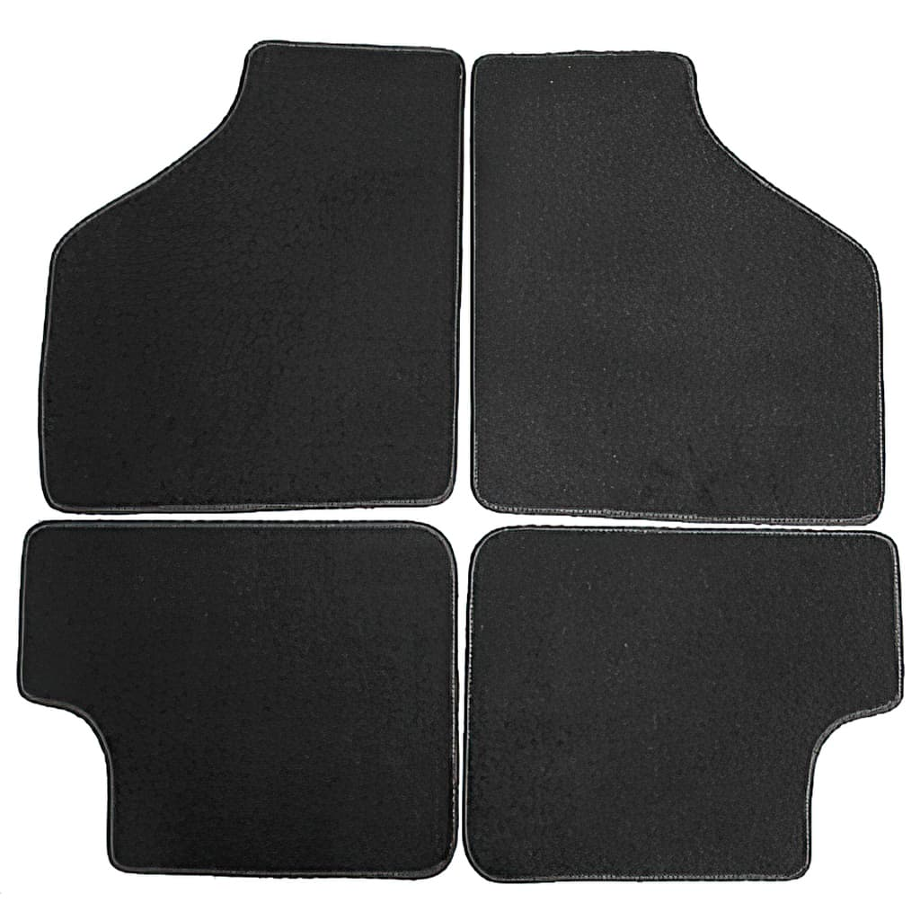 Floor Mat Set, 4-piece Deluxe, All Mini Saloons, Black