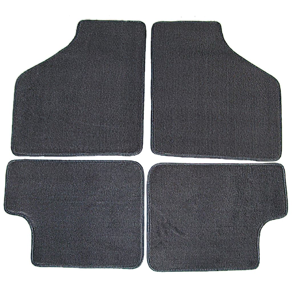 Floor Mat Set, 4-piece Deluxe, All Minis, Grey