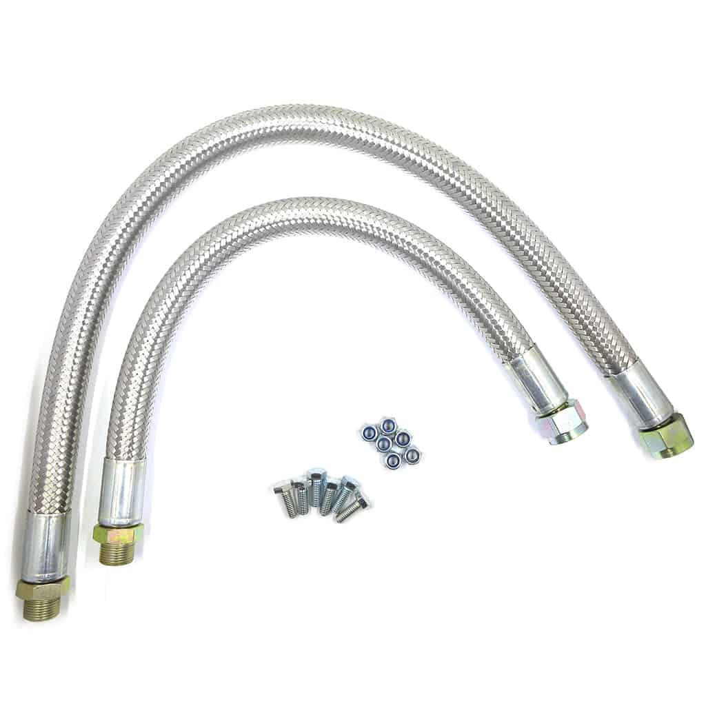 Oil Cooler Hose Kit, stainless-braided, 1992-on