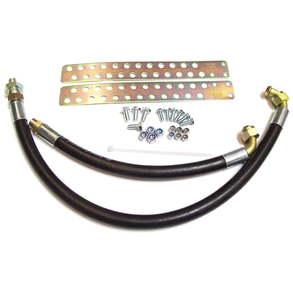 Oil Cooler Hose Kit, rubber, extra length