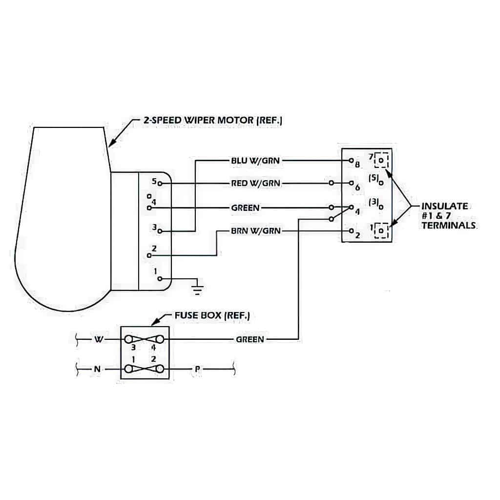 wiring sub harness, 2-speed wiper switch conversion · sel0020 wiring  harness diagram