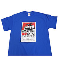 Seven Mini Parts Logo T-Shirt, Royal Blue
