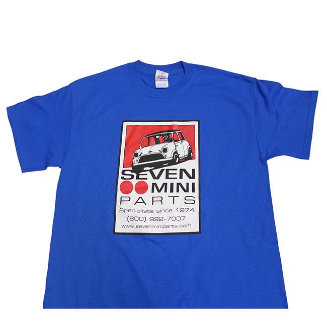 Seven Mini Parts Logo T-Shirt, Royal Blue