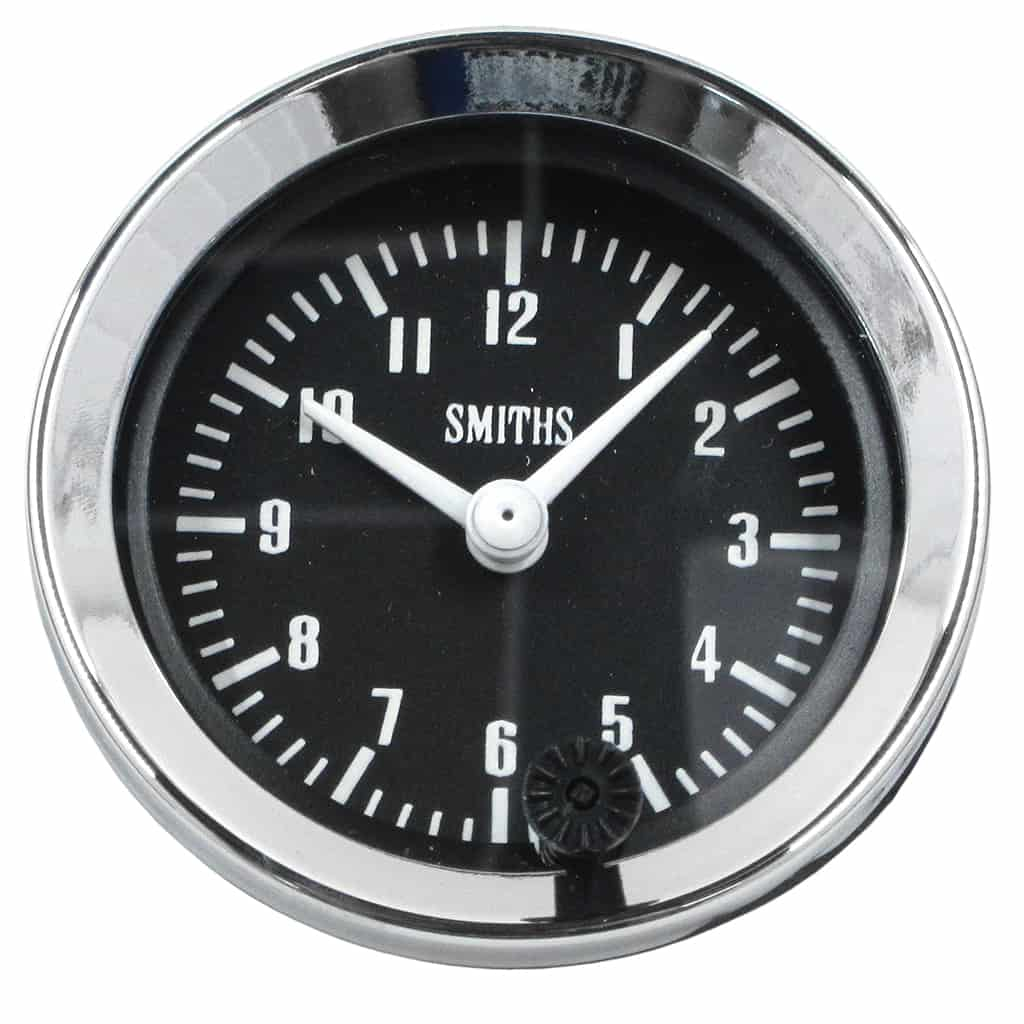 Clock, Smiths, 12-Hour, Black