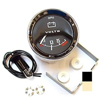 Volt Meter, 10-15, Smiths, Black Face