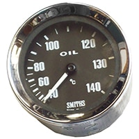 Oil Temperature Gauge, Celcius, Smiths, Black
