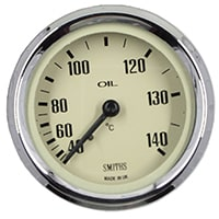 Oil Temperature Gauge, Celcius, Smiths, Magnolia