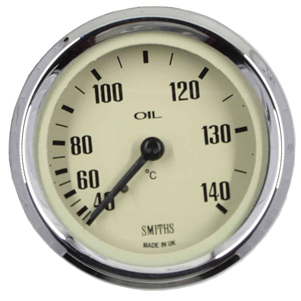 Oil Temperature Gauge, Celcius, Smiths, Magnolia