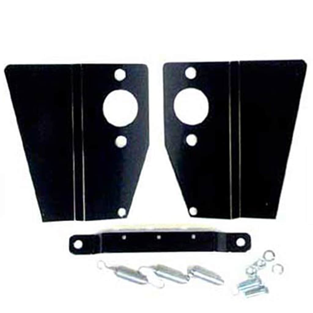 Heat Shield Kit, twin HS2, black