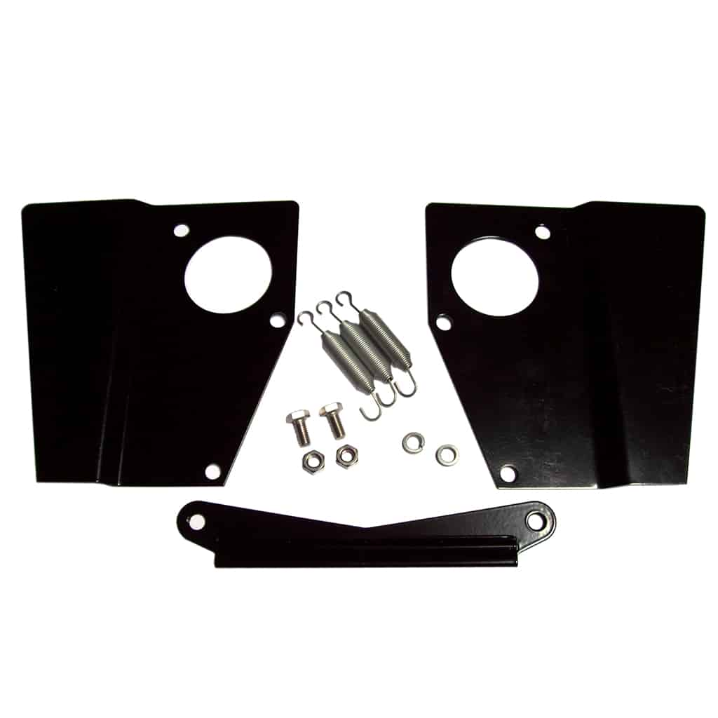 Heat Shield Kit, twin HS4, Black