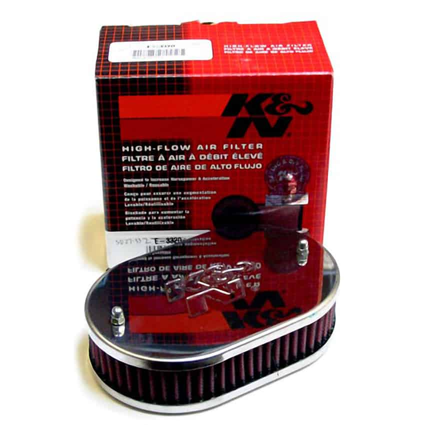 Air Filter, K&N, for HIF6, Oval