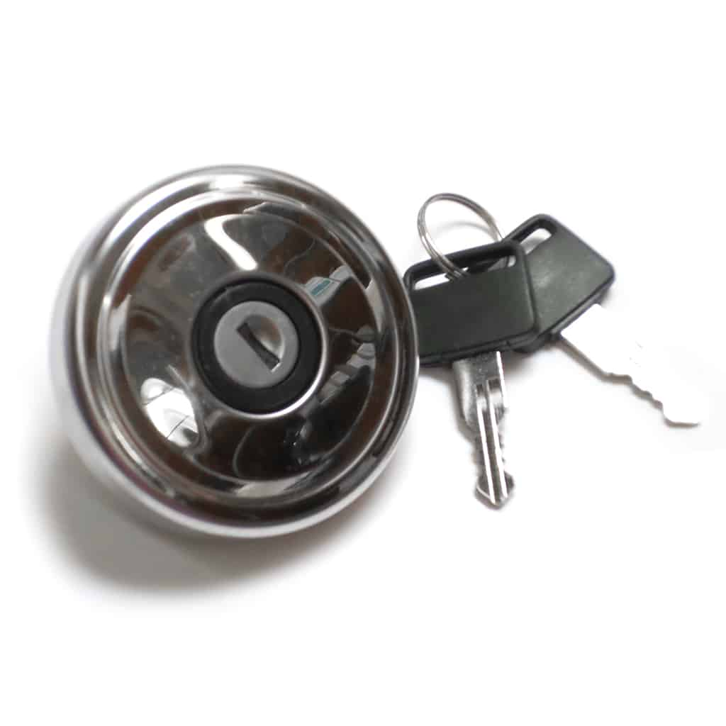 Gas Cap, Locking, Stainless, Non-vented