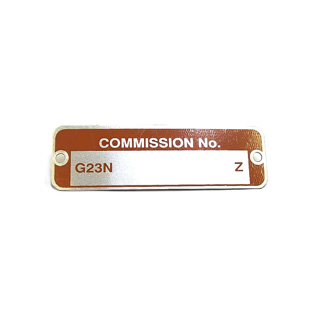Commission Plate, to 1976