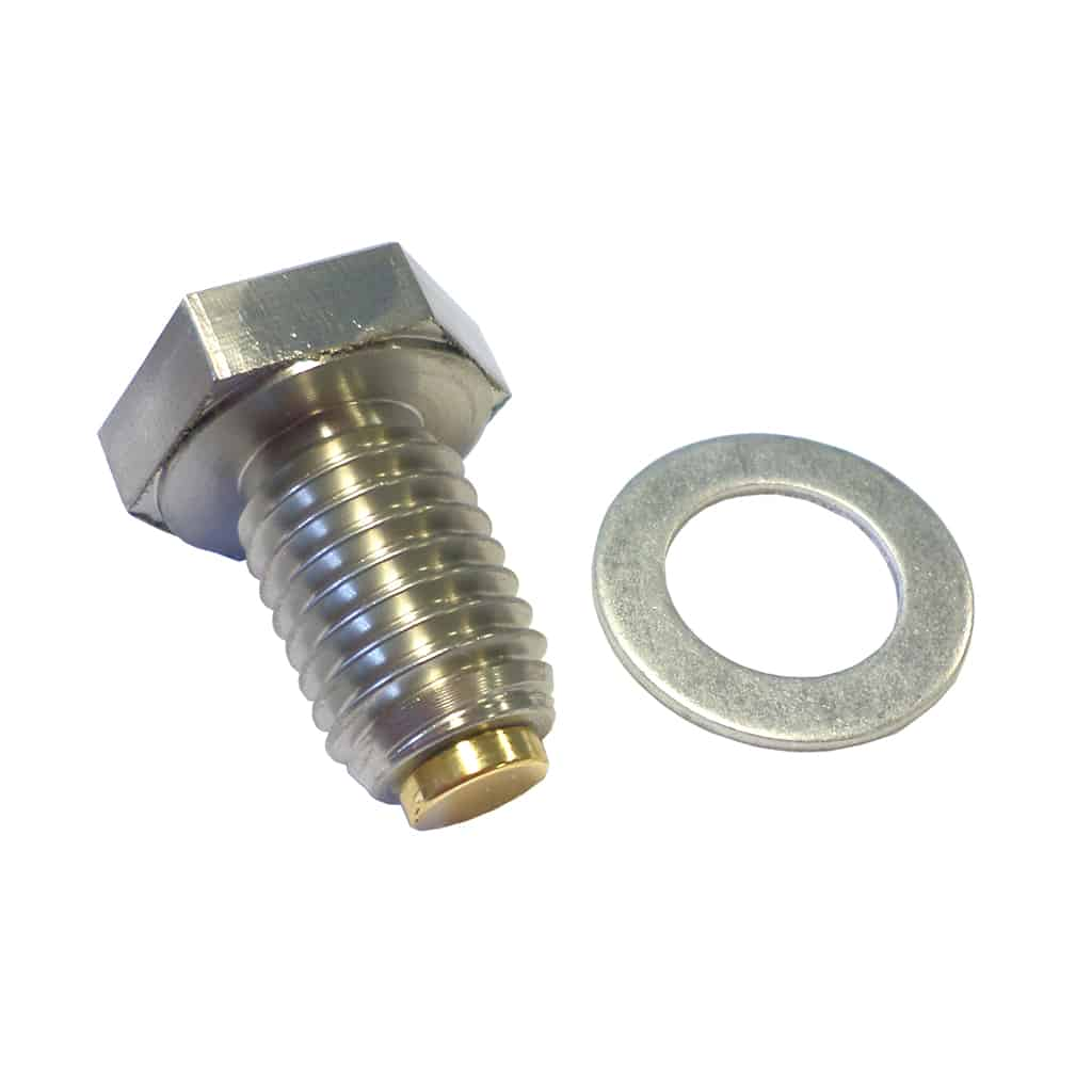 Oil Drain Plug, Stainless, High-Strength Magnetic