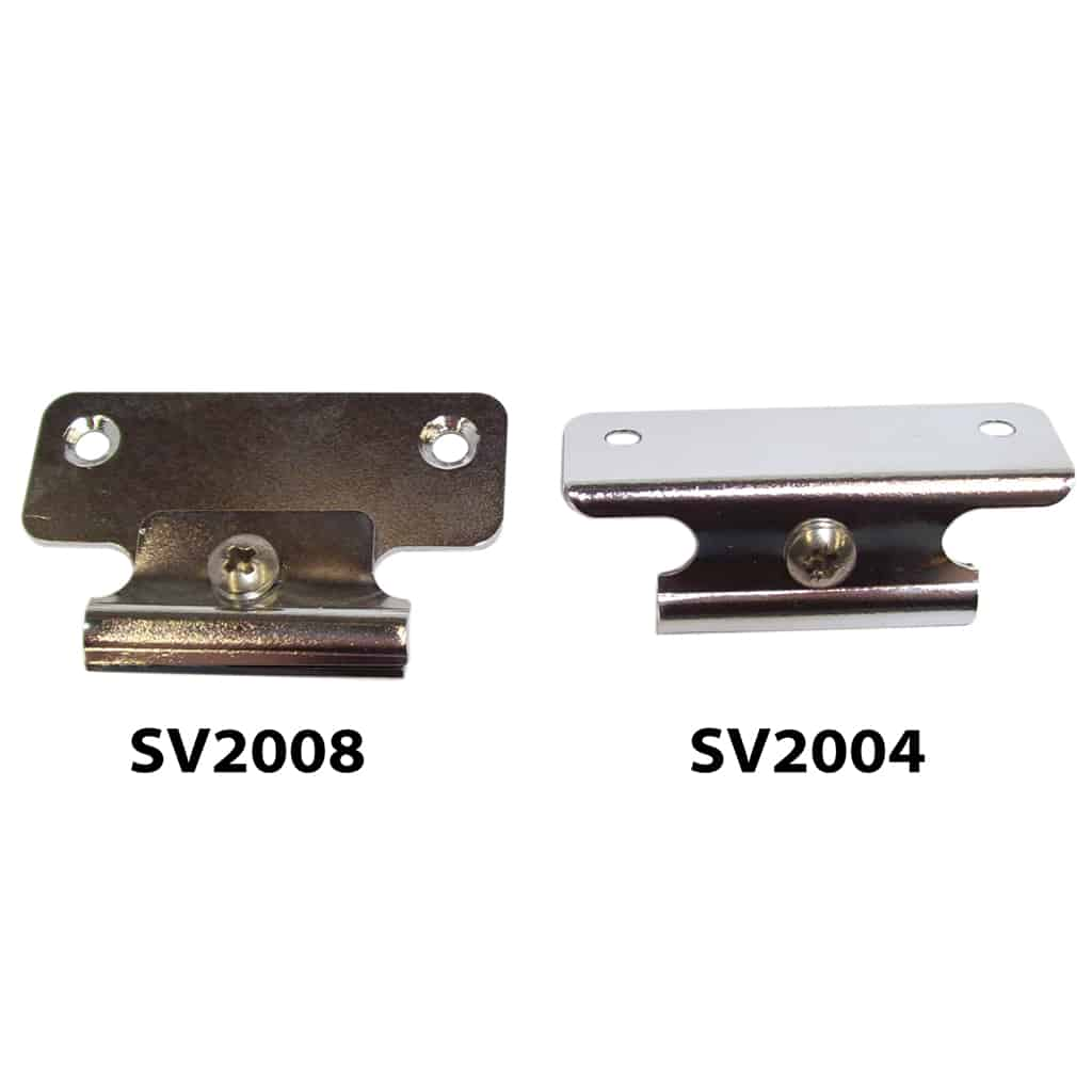 SV2004 angled bracket, compared with SV2008 flat bracket