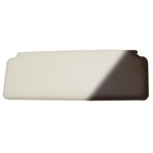 Sun Visor, 1970-on, White w/ Black Back
