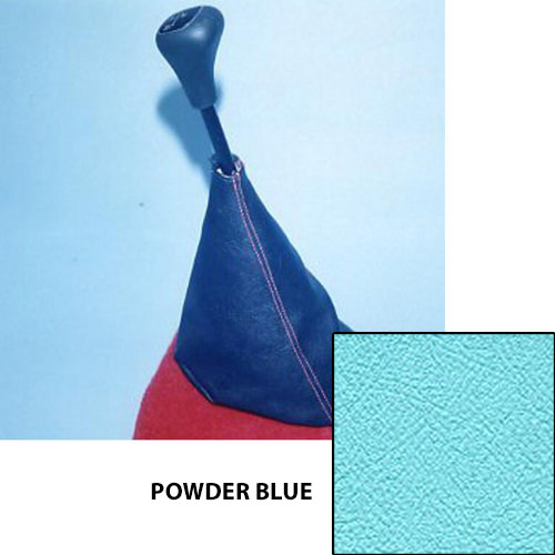 Shift Boot, vinyl, 1973-2000, rod change, POWDER BLUE