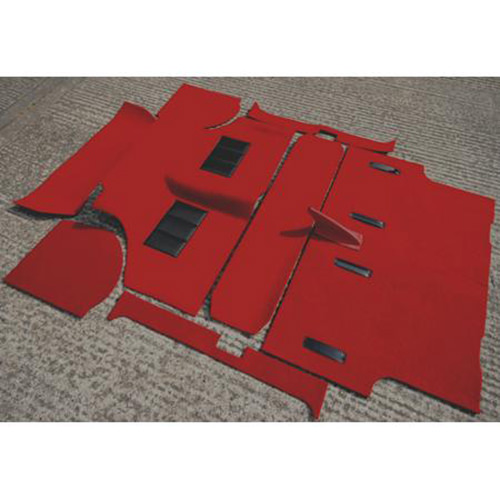 Moulded Carpet Set, Early Mini Saloon, RED