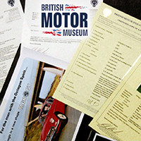 Heritage Certificates from the British Motor Museum (UK)