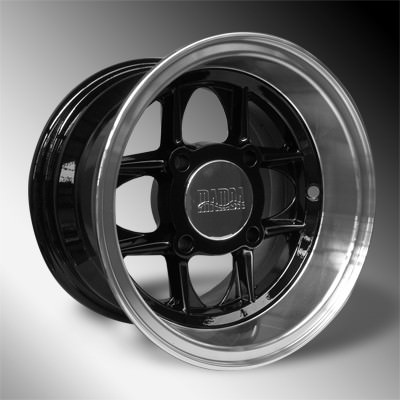 "10""x6"" Mamba Wheel, black"