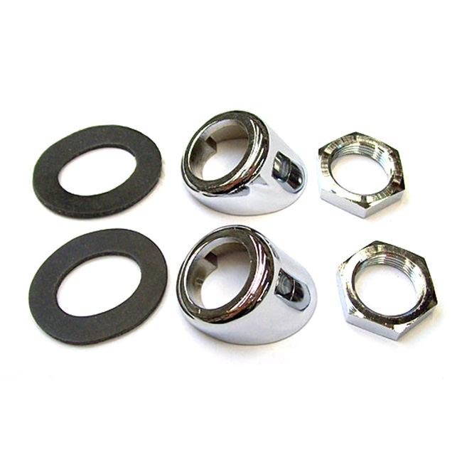 Wiper Wheelbox Plinth Kit, Chrome Mk1/2