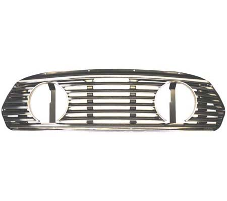 Grille, Stainless, Mk2-on, with lamp openings