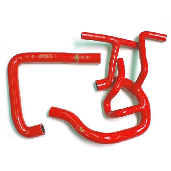 Radiator Hose Kit, MPi, Red Silicone