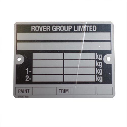 Vin Plate, Rover Mini