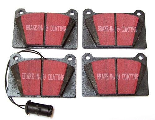 Brake Pads, 4-pot caliper, Black Stuff (GBP258KEVLAR) - GBP258KEVLAR