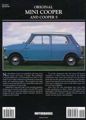 Original Mini Cooper and Cooper S (SBK0156) - SBK0156